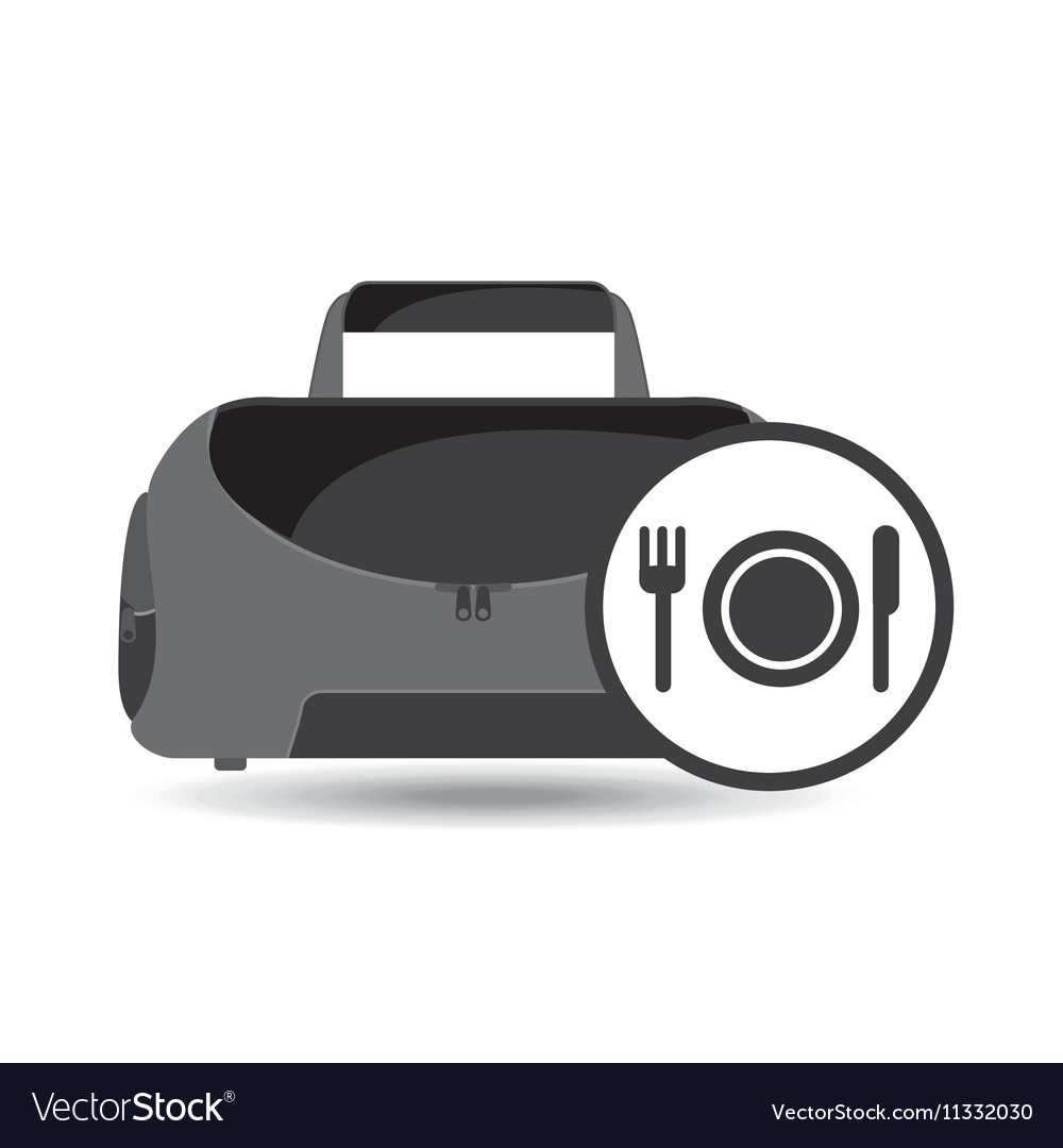 Fitness sport bag icon food healthy