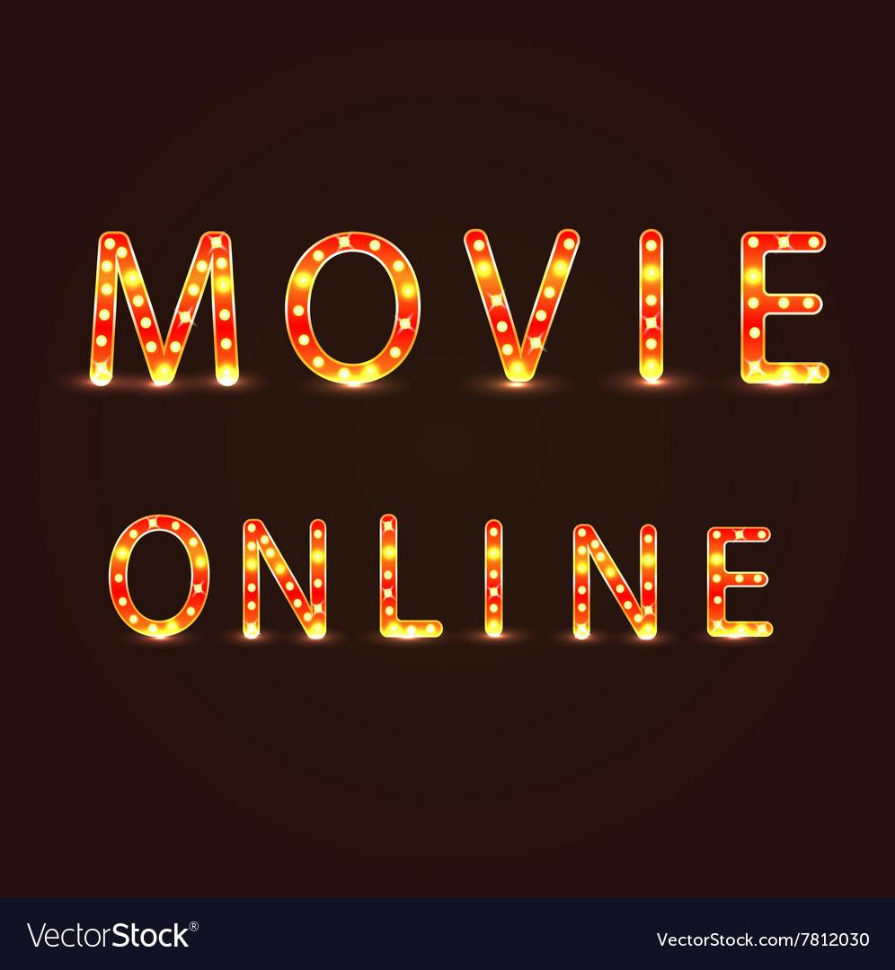 Movie omline sign vector image