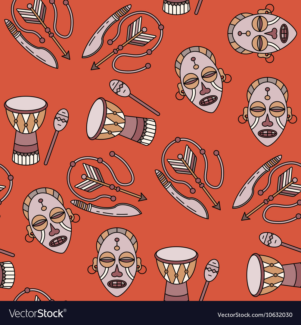 Seamless pattern with voodoo symbols vector image