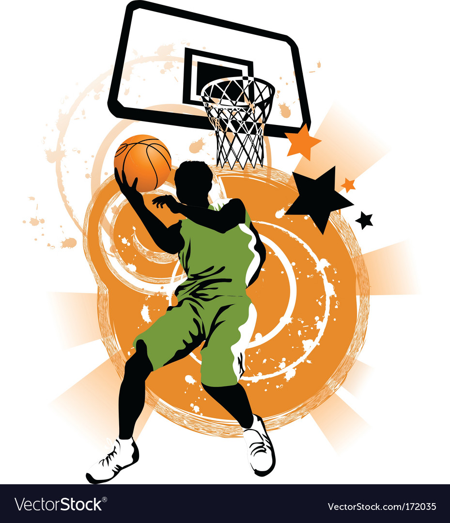 Basketball collage vector image