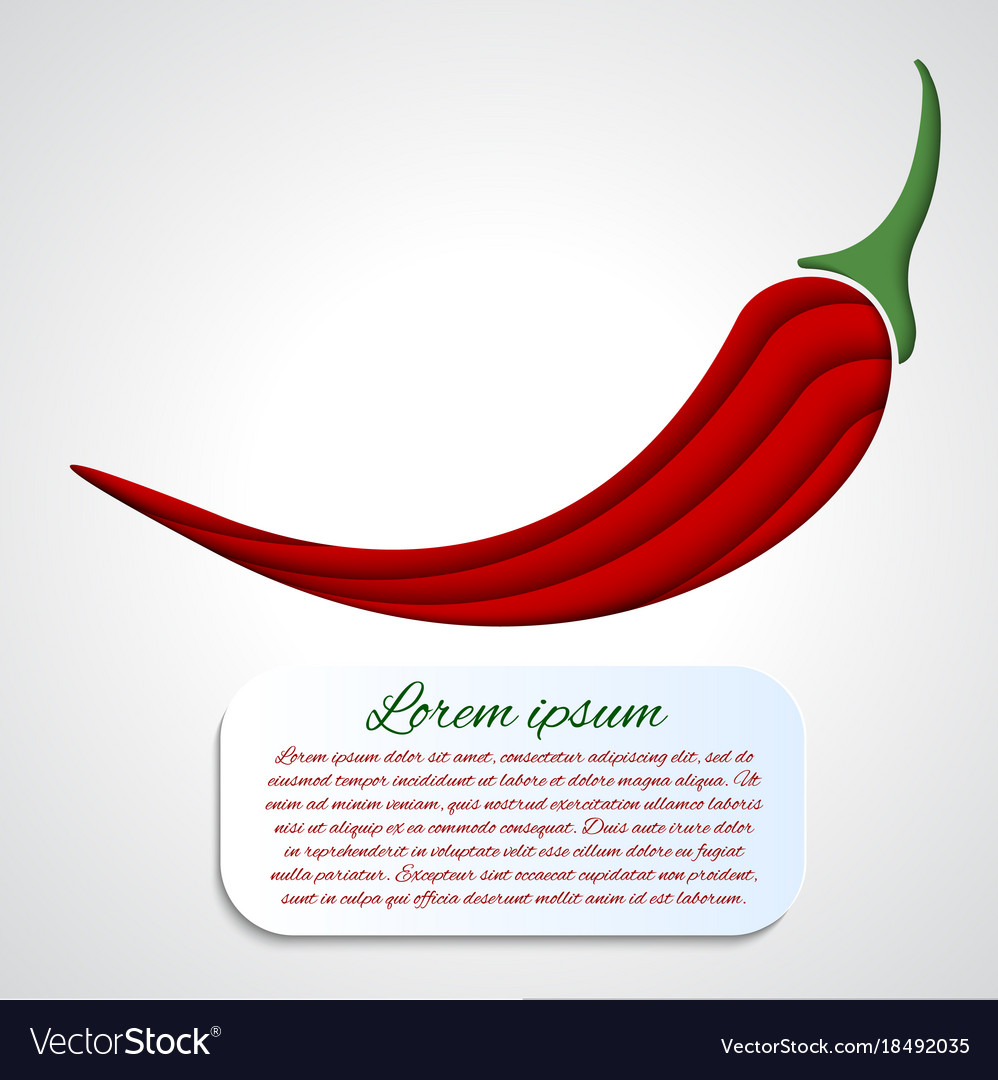 Card with chilli pepper