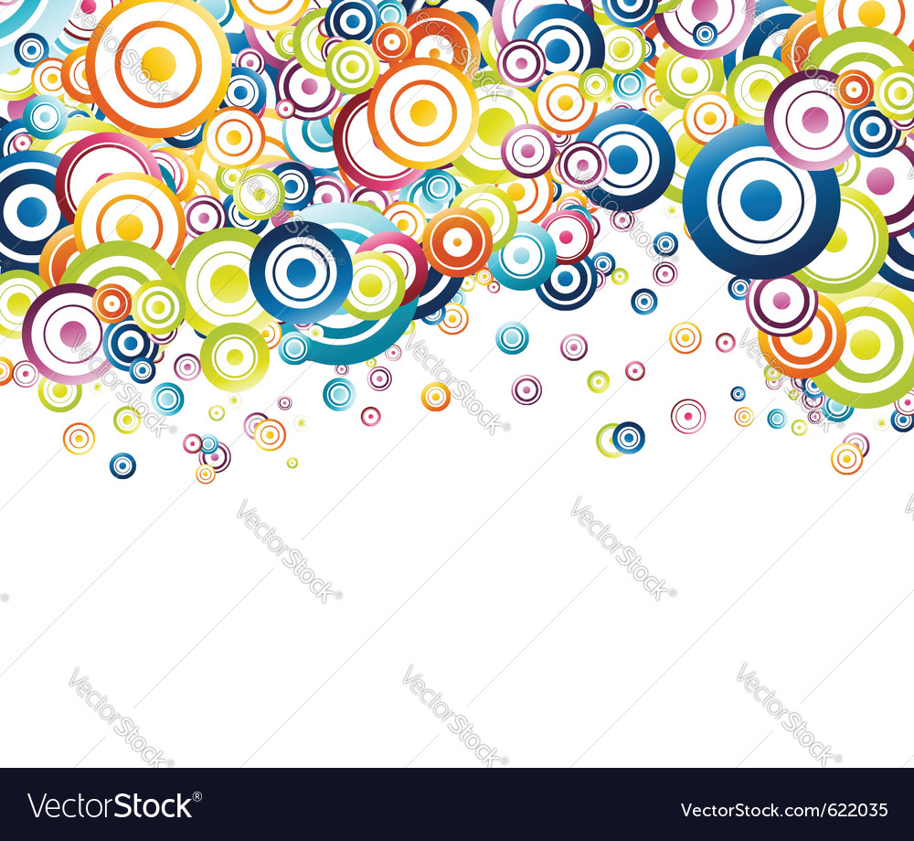 Colorful rainbow circle background