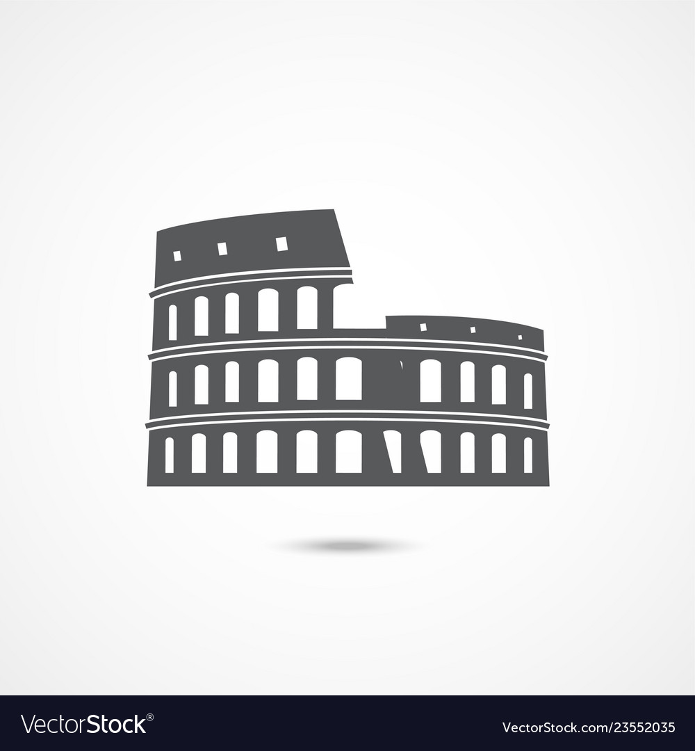 Colosseum icon on white