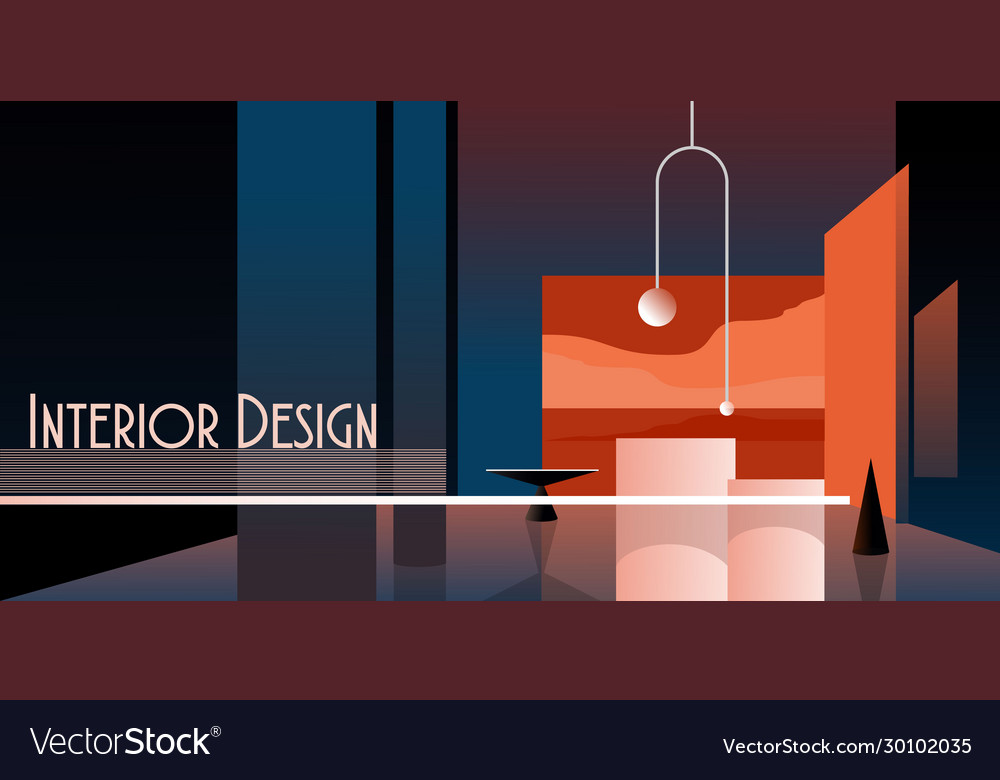 Interior abstract background mockup