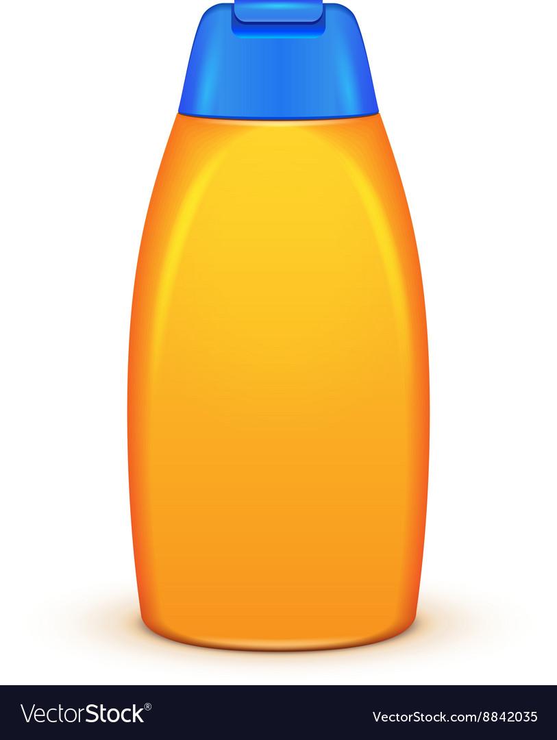 Oil Shower Gel Bottle Of Shampoo Yellow