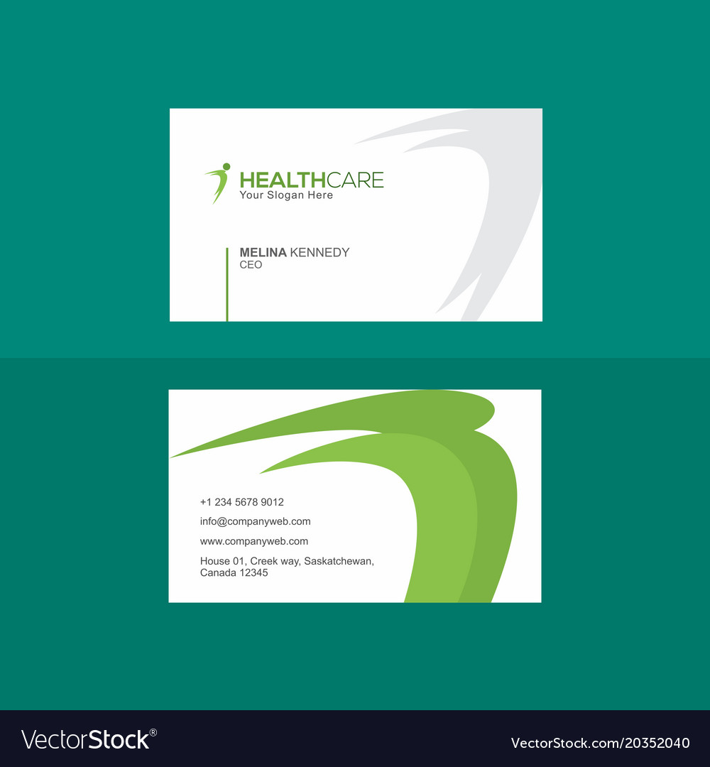 Creative green and white business card royalty free vector creative green and white business card vector image reheart Images