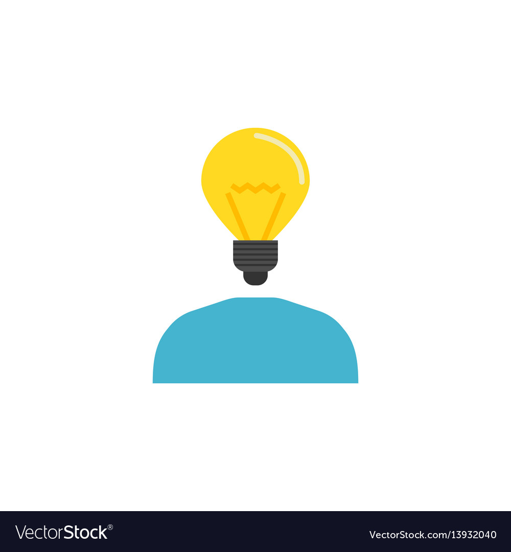 Creative thinking flat icon vector image