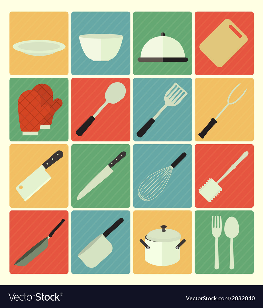 Flat icons Kitchen