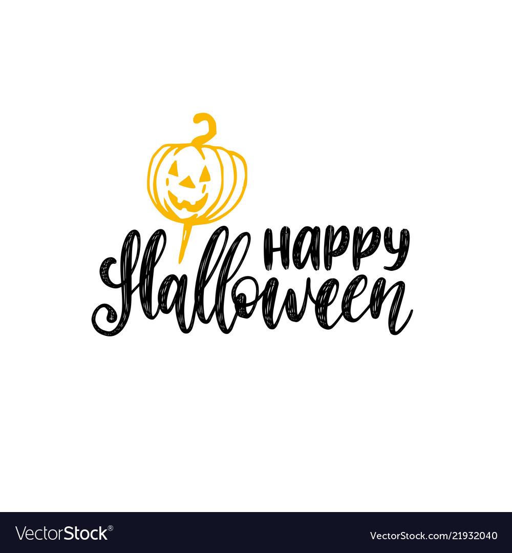 Happy halloween hand lettering