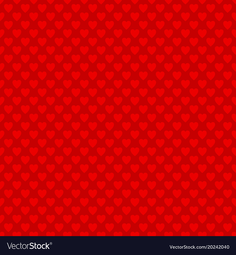 Red repeating heart pattern design background vector image