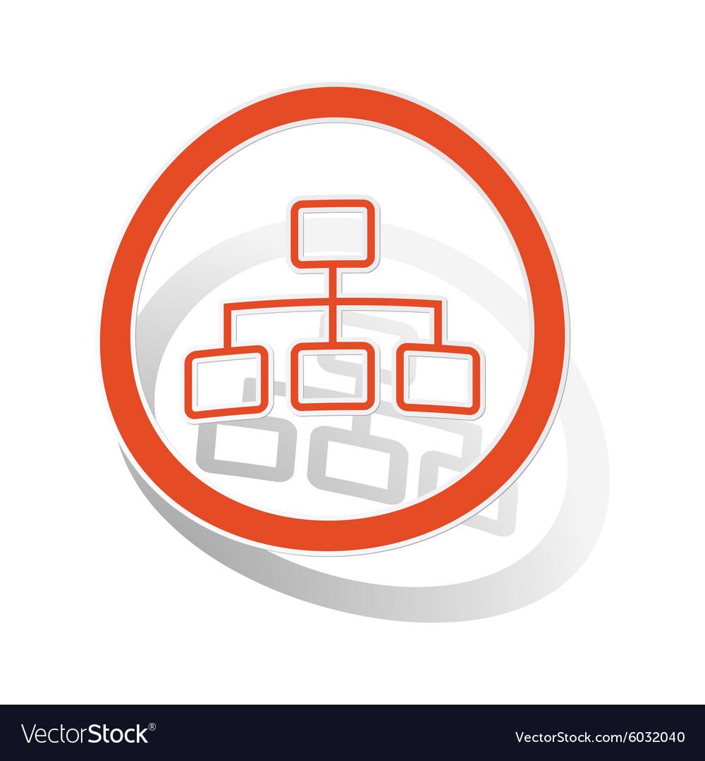Scheme sign sticker orange
