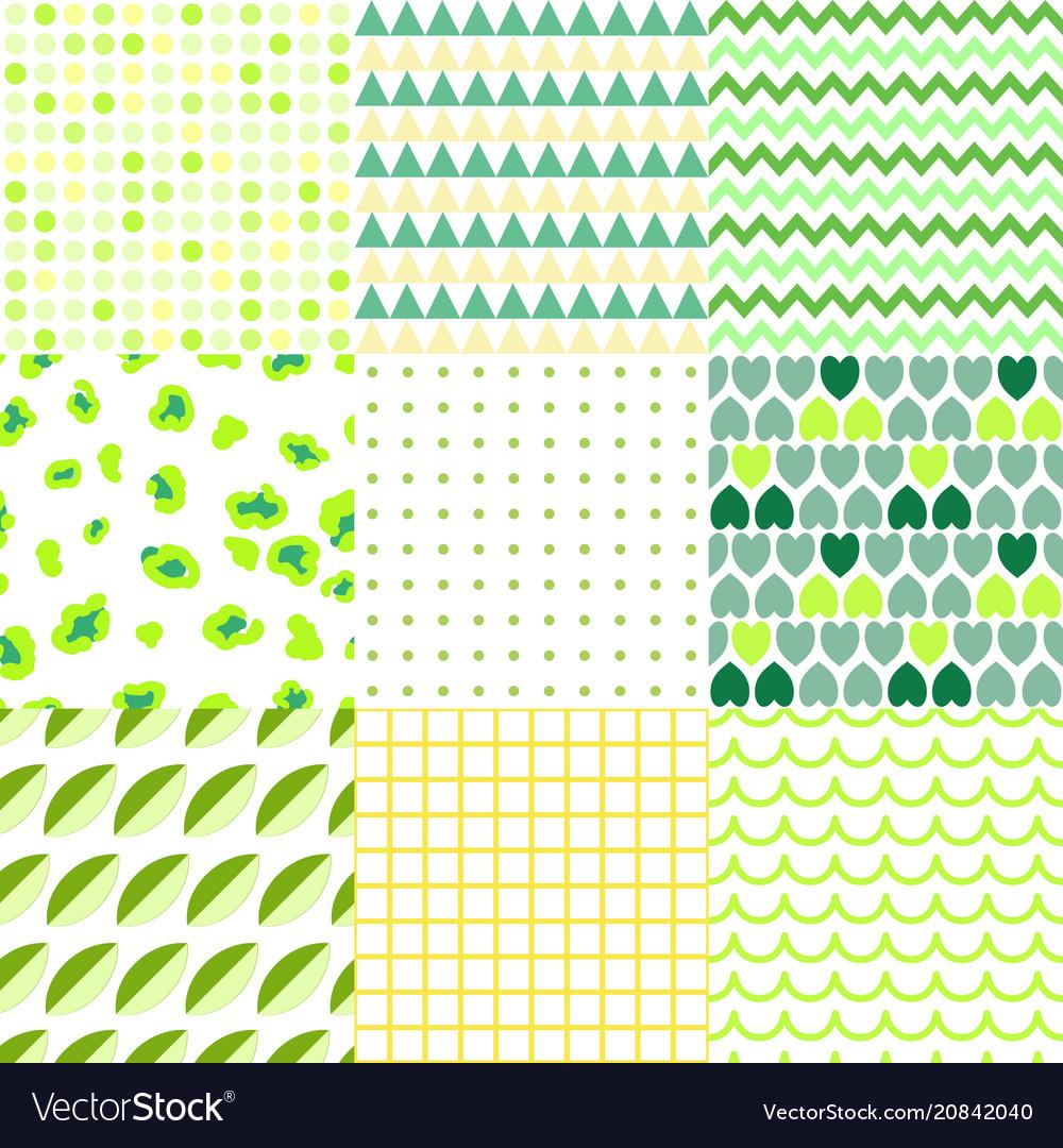 Set of colorful elegant seamless patterns vector image