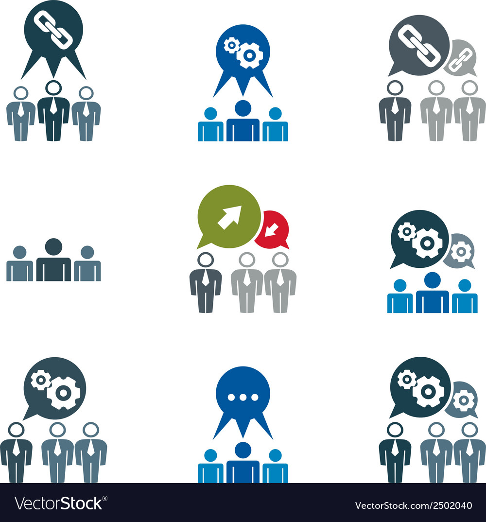 teamwork and business cooperation theme creative vector image