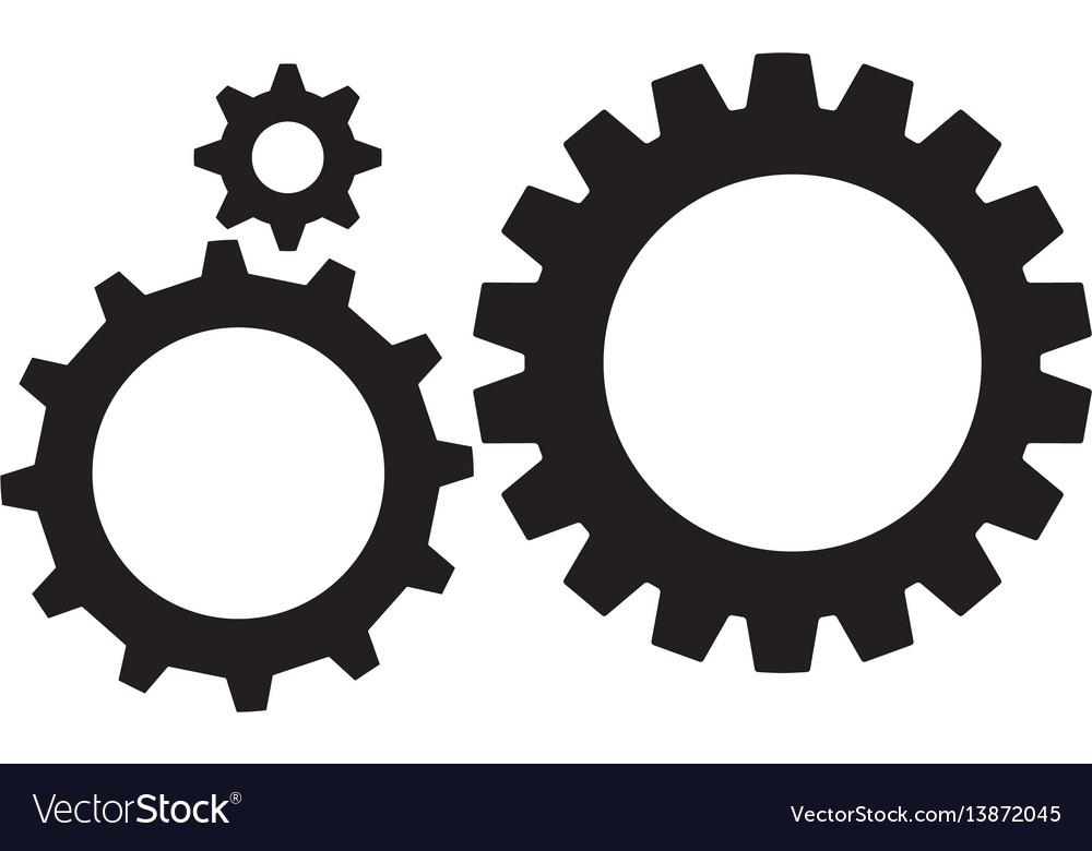 gear icon gear wheels pictograms isolated gear vector image rh vectorstock com gear vector art gear vector art