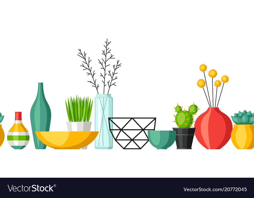 Home decoration vases flower pots succulents and