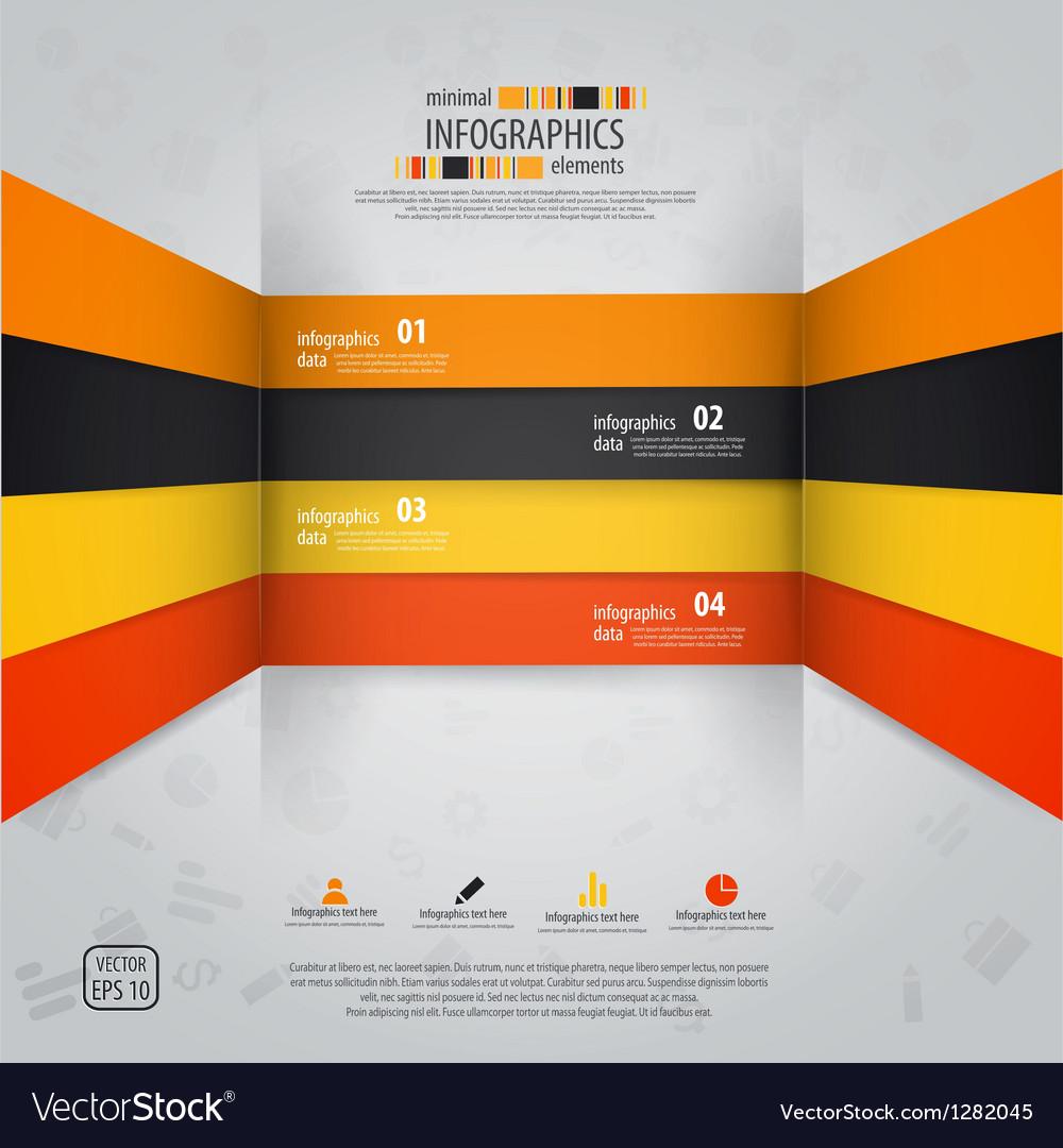 Line infographics 2 vector image