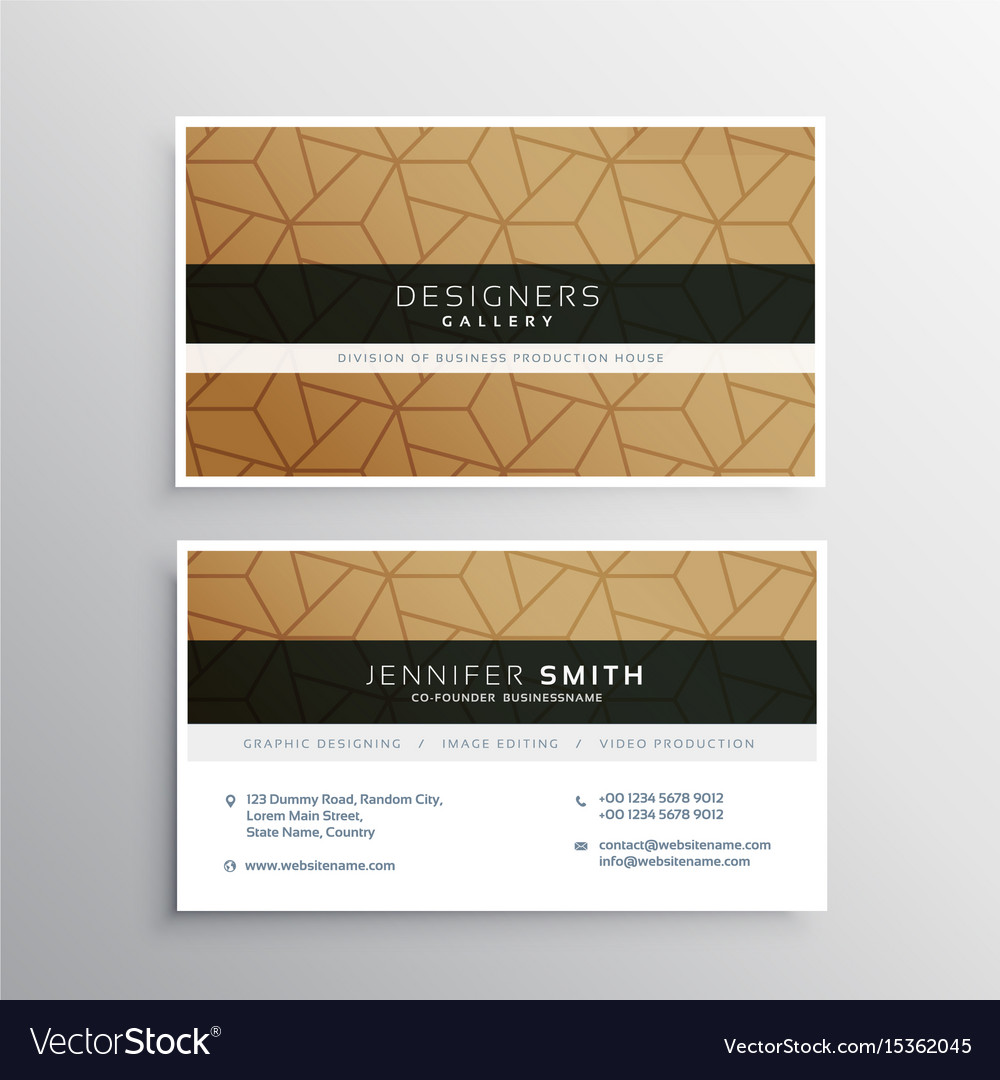 Minimal Business Card Design Template With Vector Image