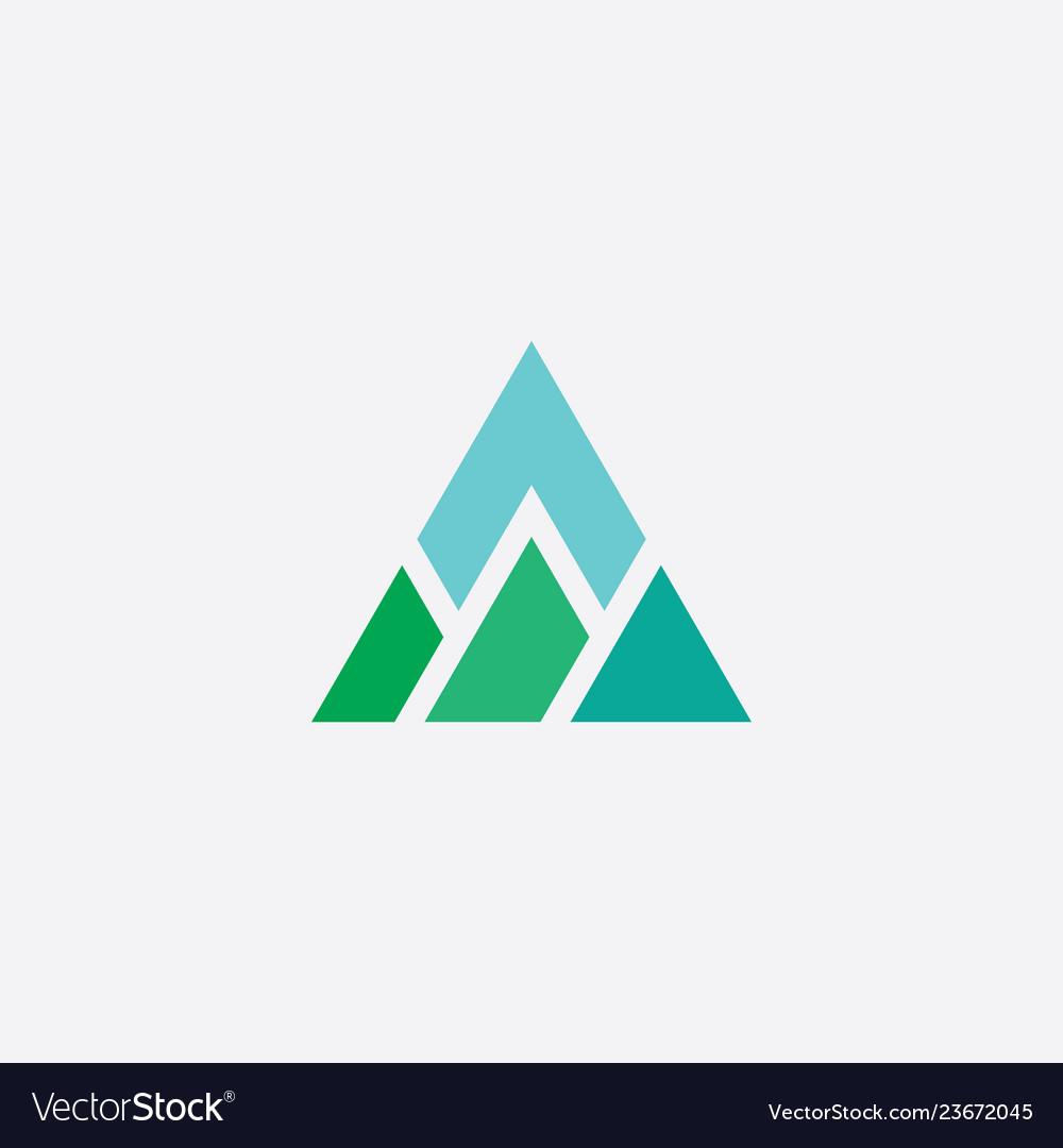 Mountain triangle logo icon element
