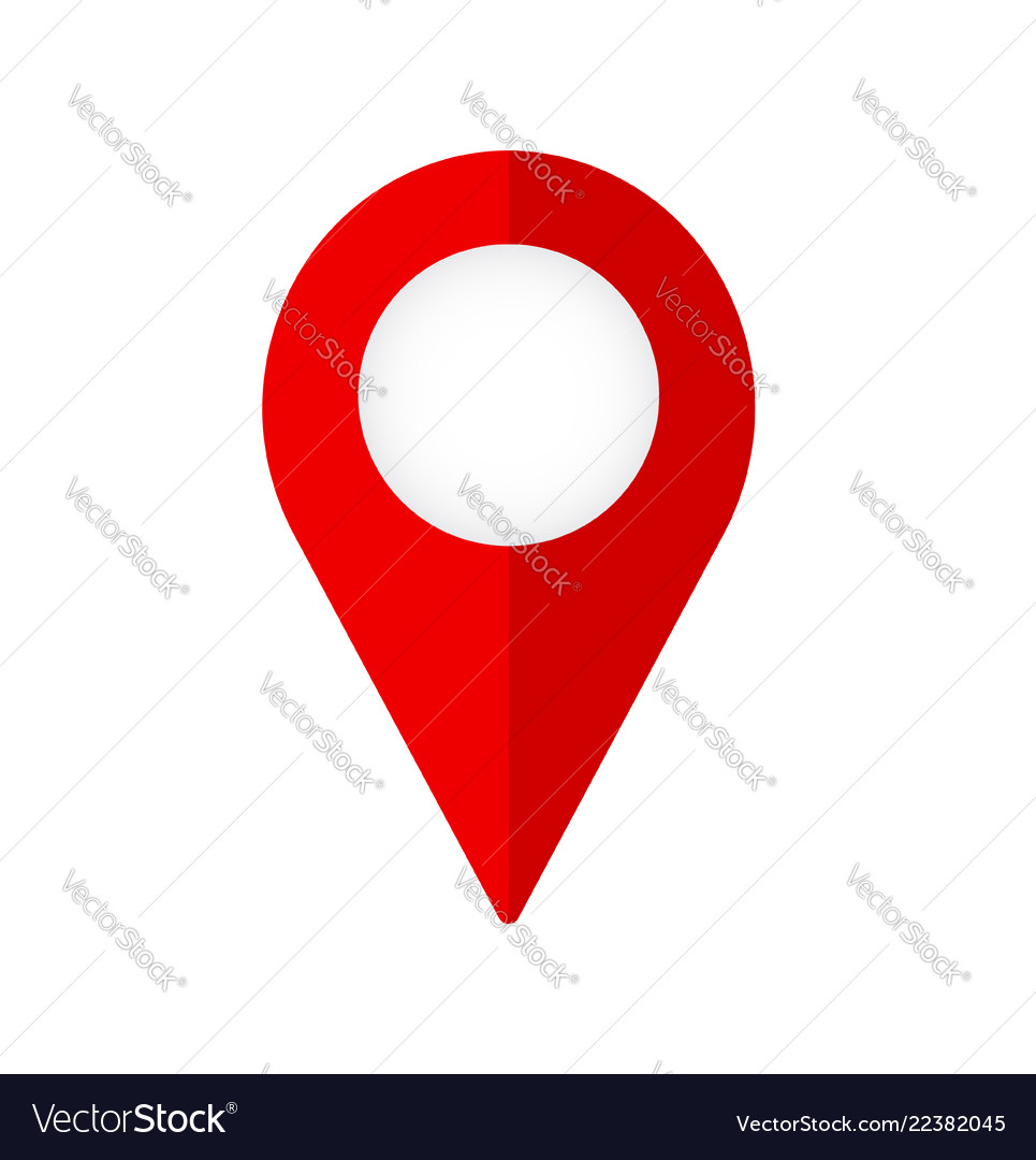 New flat design map pin red style modern icon