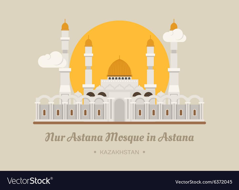 Nur-Astana Mosque in Astana Kazakhstan
