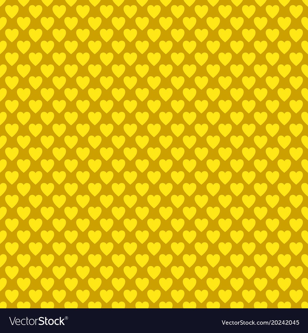 Seamless golden heart pattern background - love