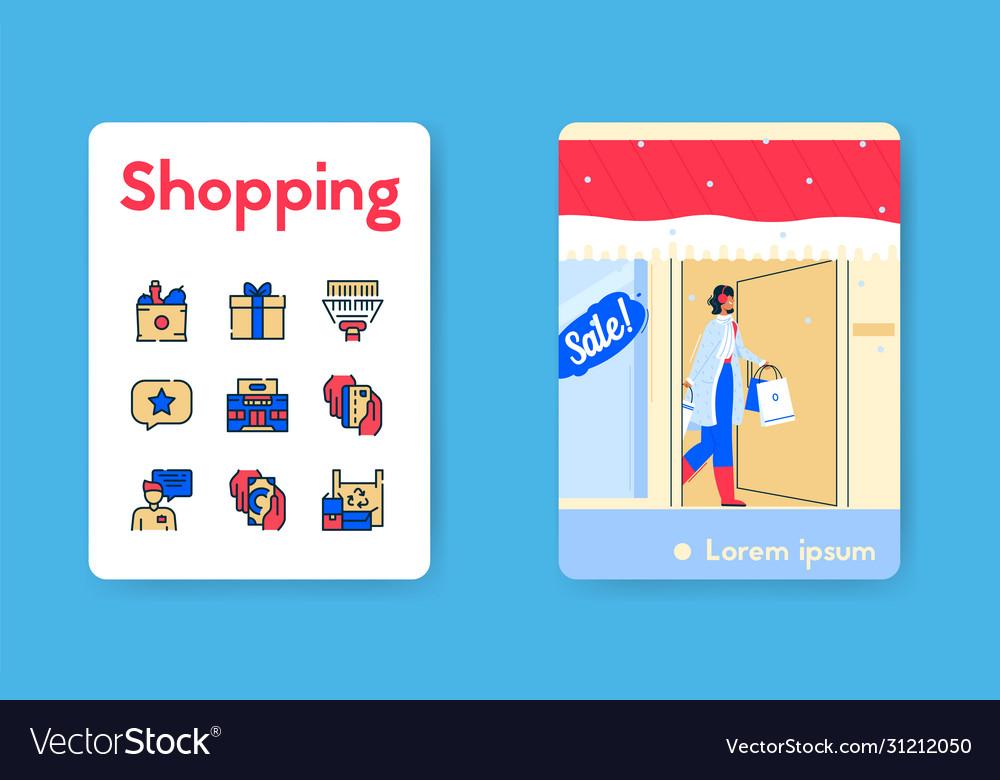 Banner shopping on winter