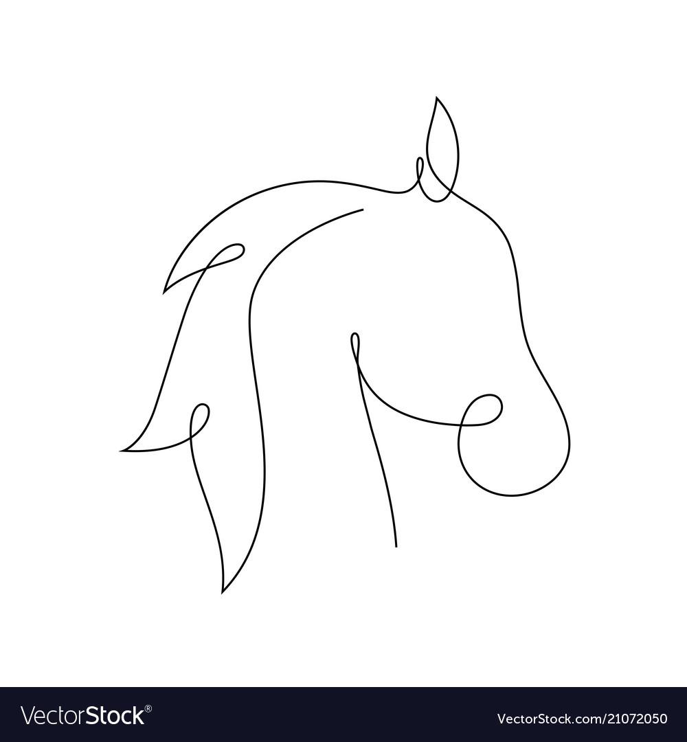 Beautiful continuous line horse art design