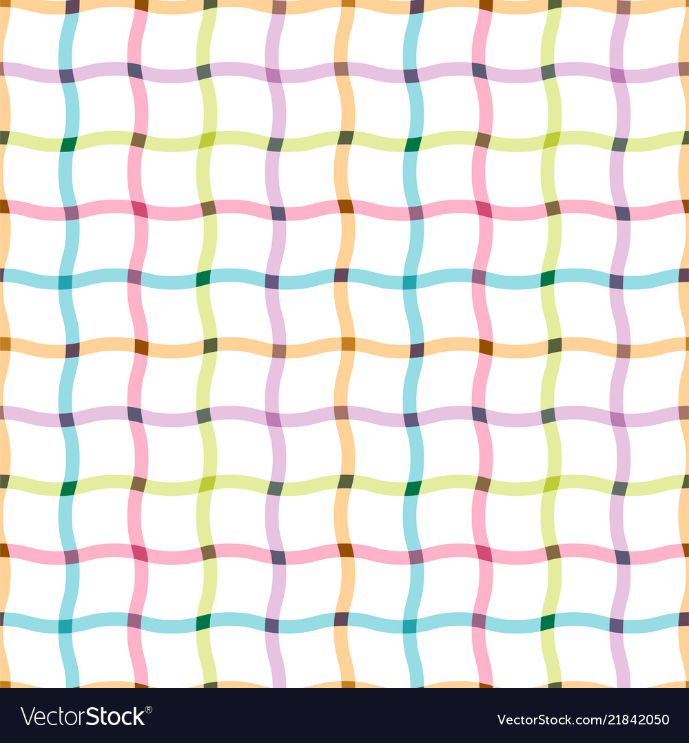 Colorful seamless grid pattern - cloth design