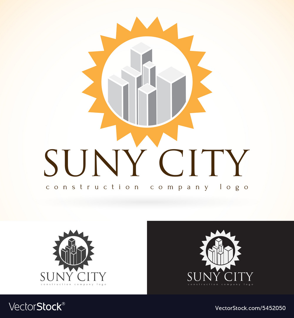 Construction development building company logo
