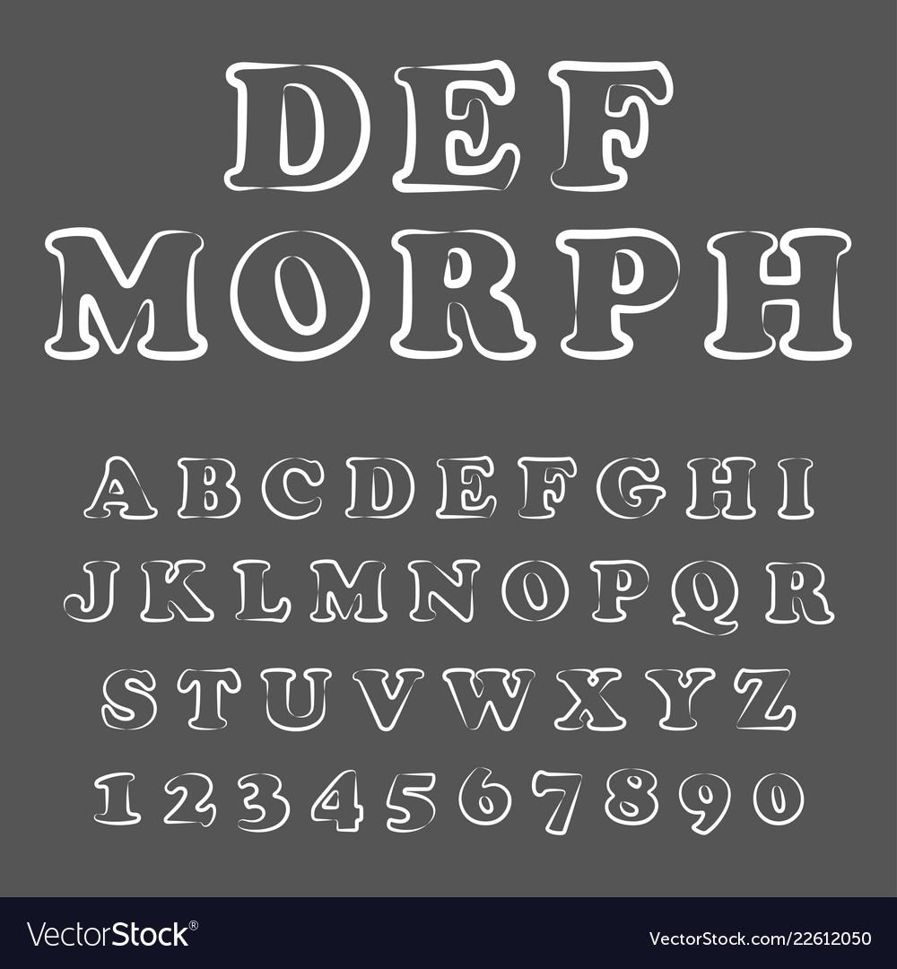 Modern playful font and alphabet