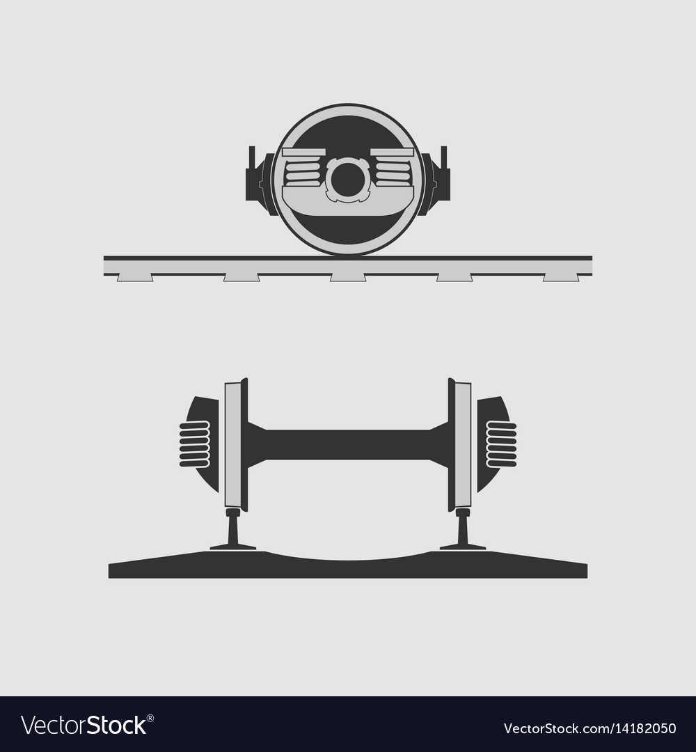 Rail car wheels vector image