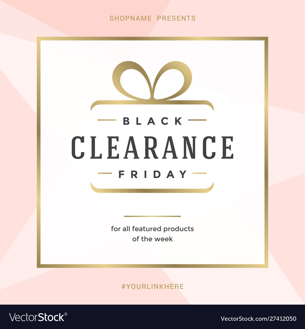 Sale banner template design with gold frame and