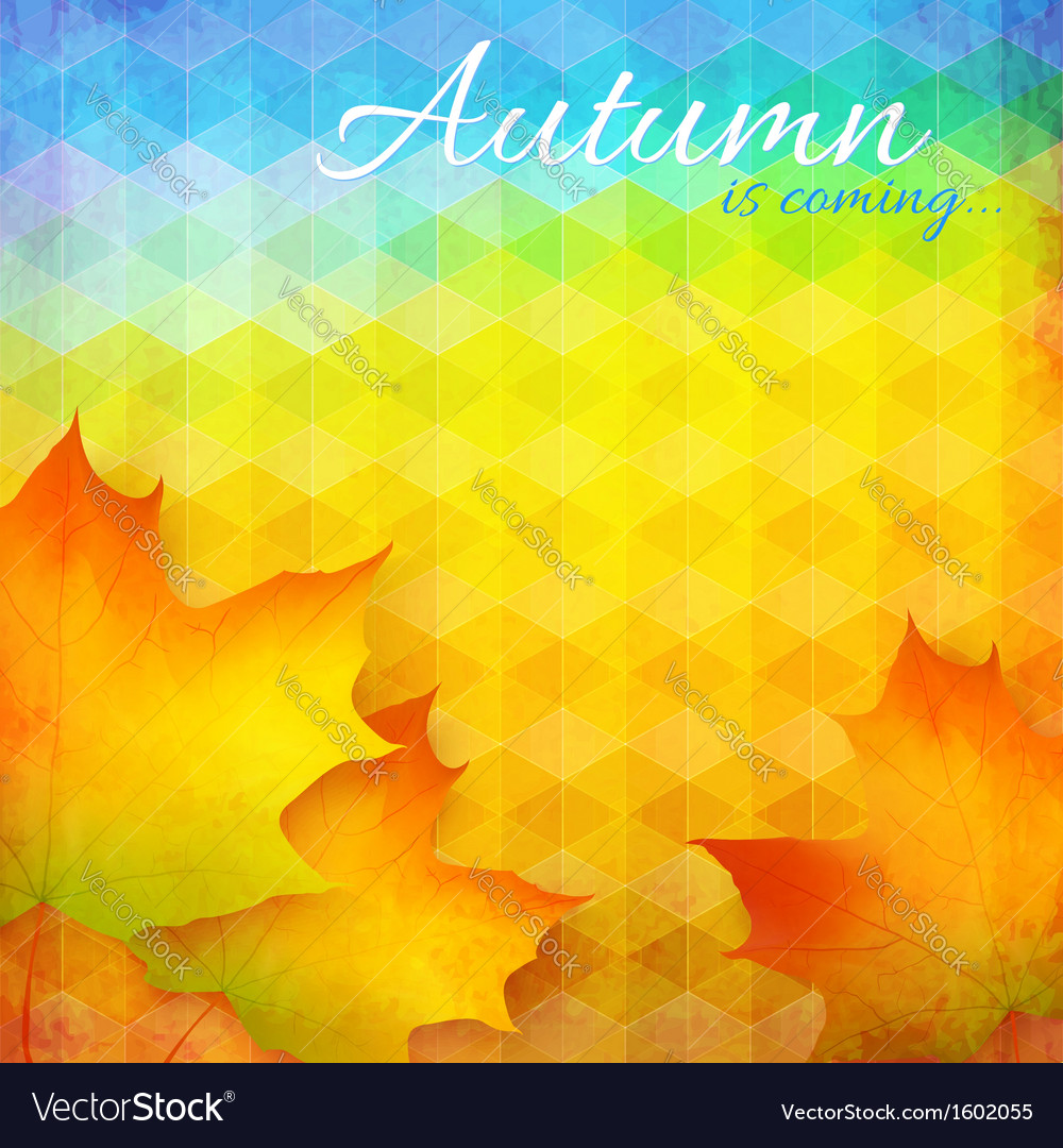 Abstract autumn bright background