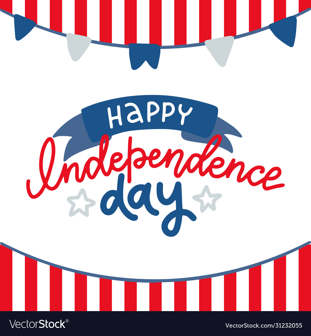 Happy 4th july - independence day card or