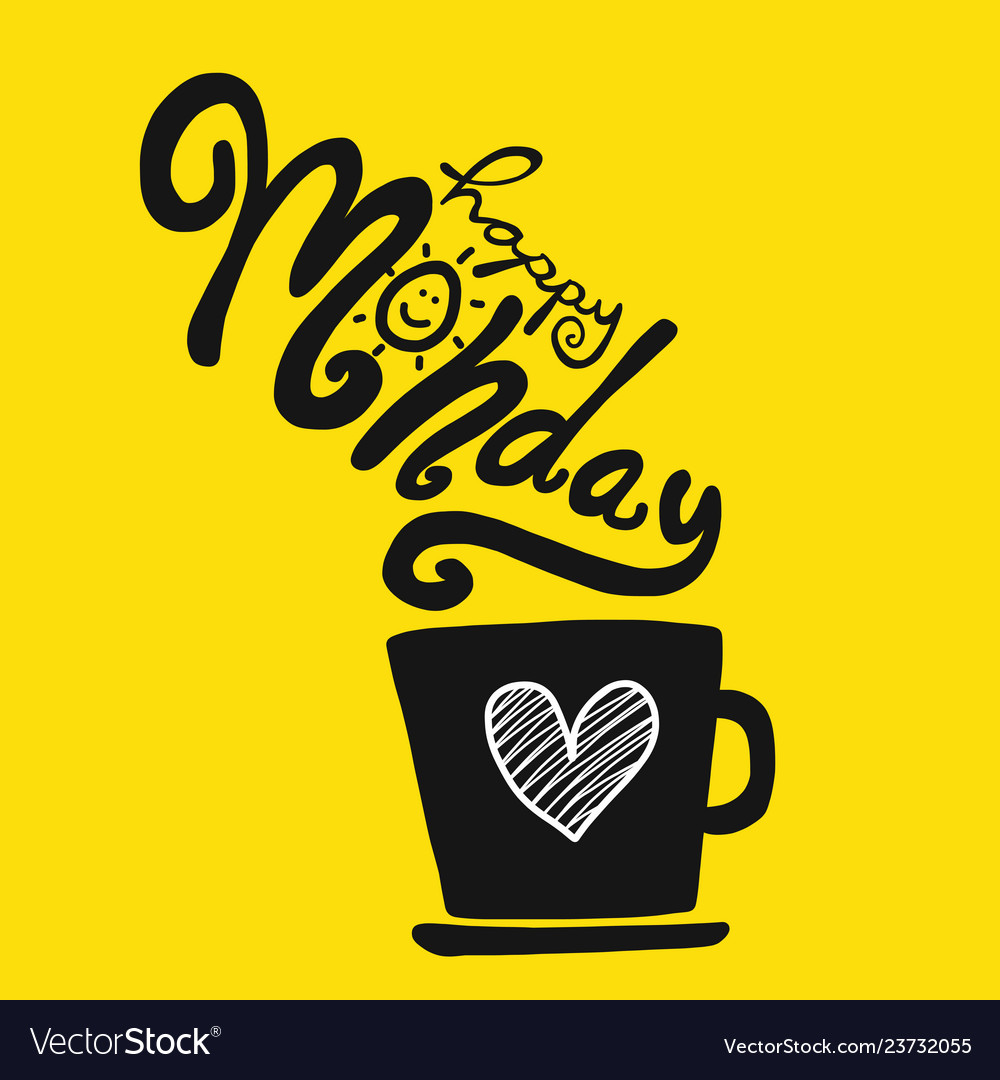 Good Morning Yellow Cup Vector Images 29