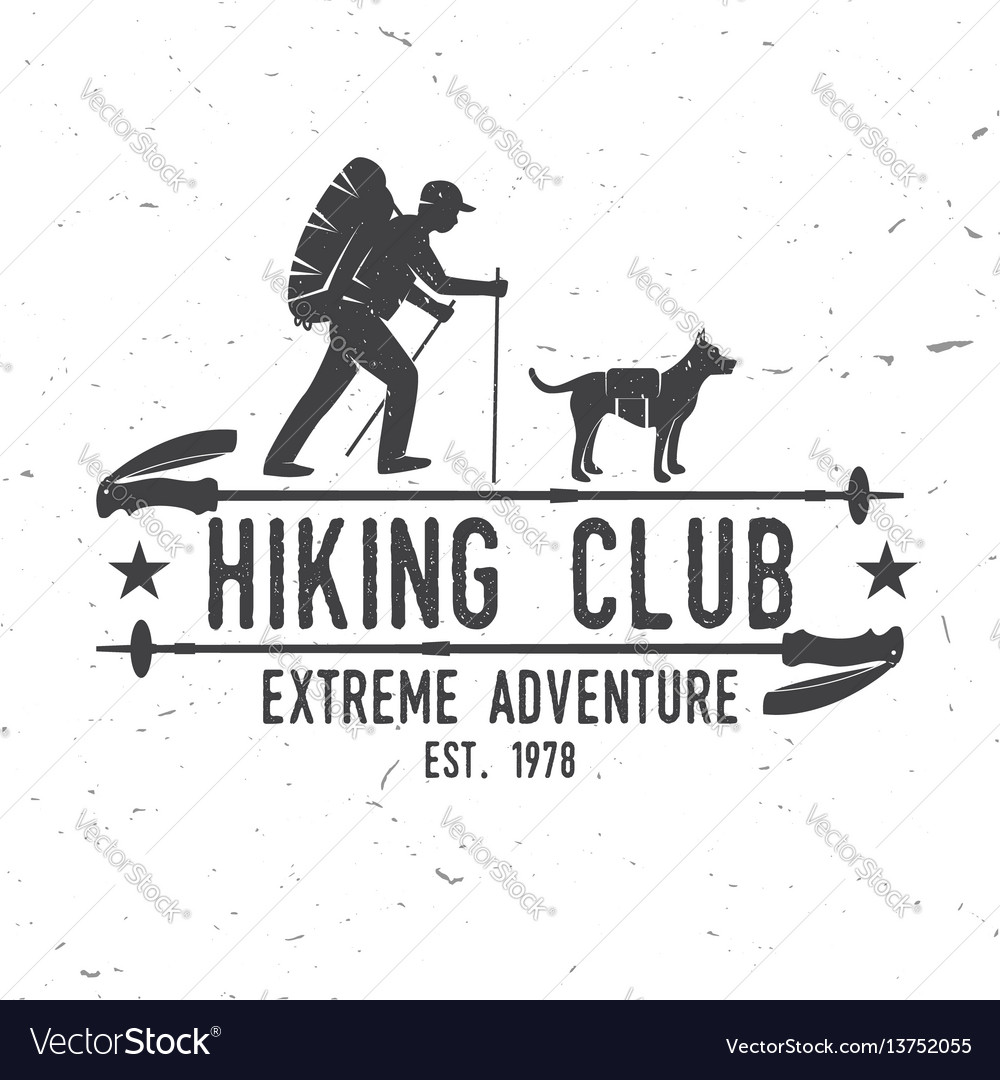 Hiking club extreme adventure vector image