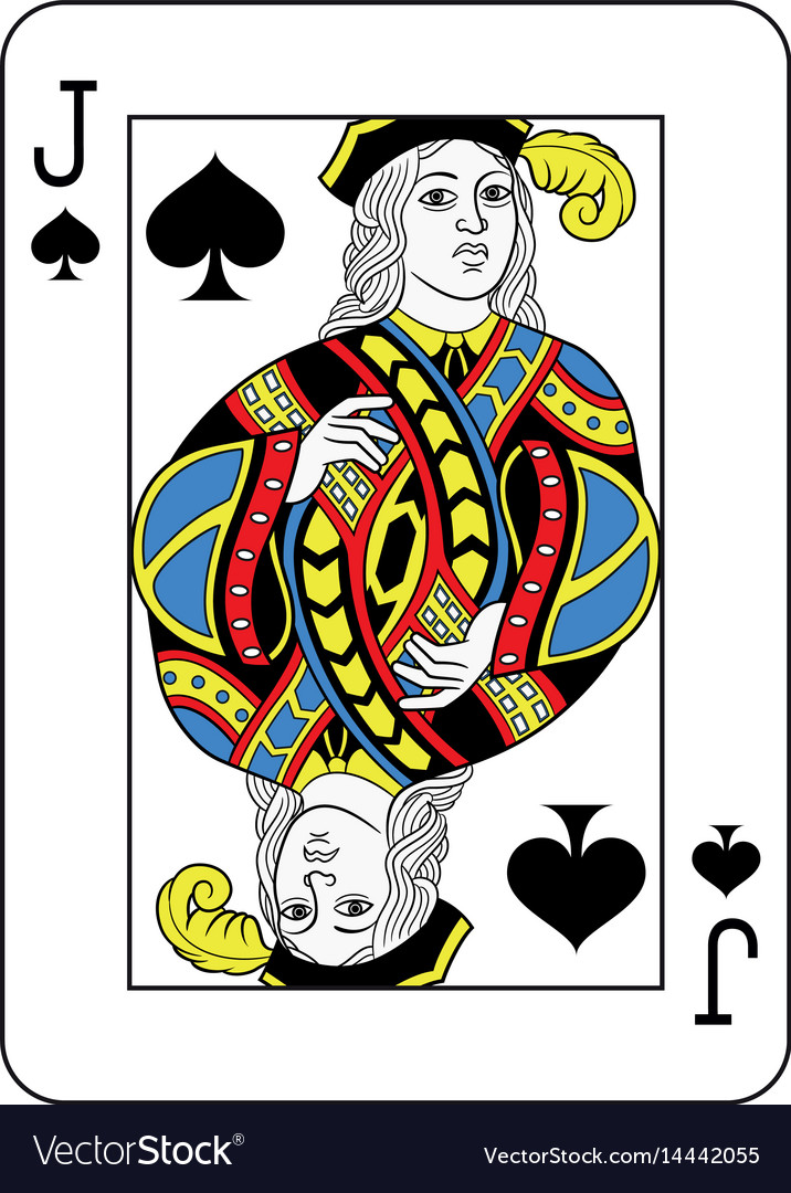jack of spade card  Jack of spades french version vector image