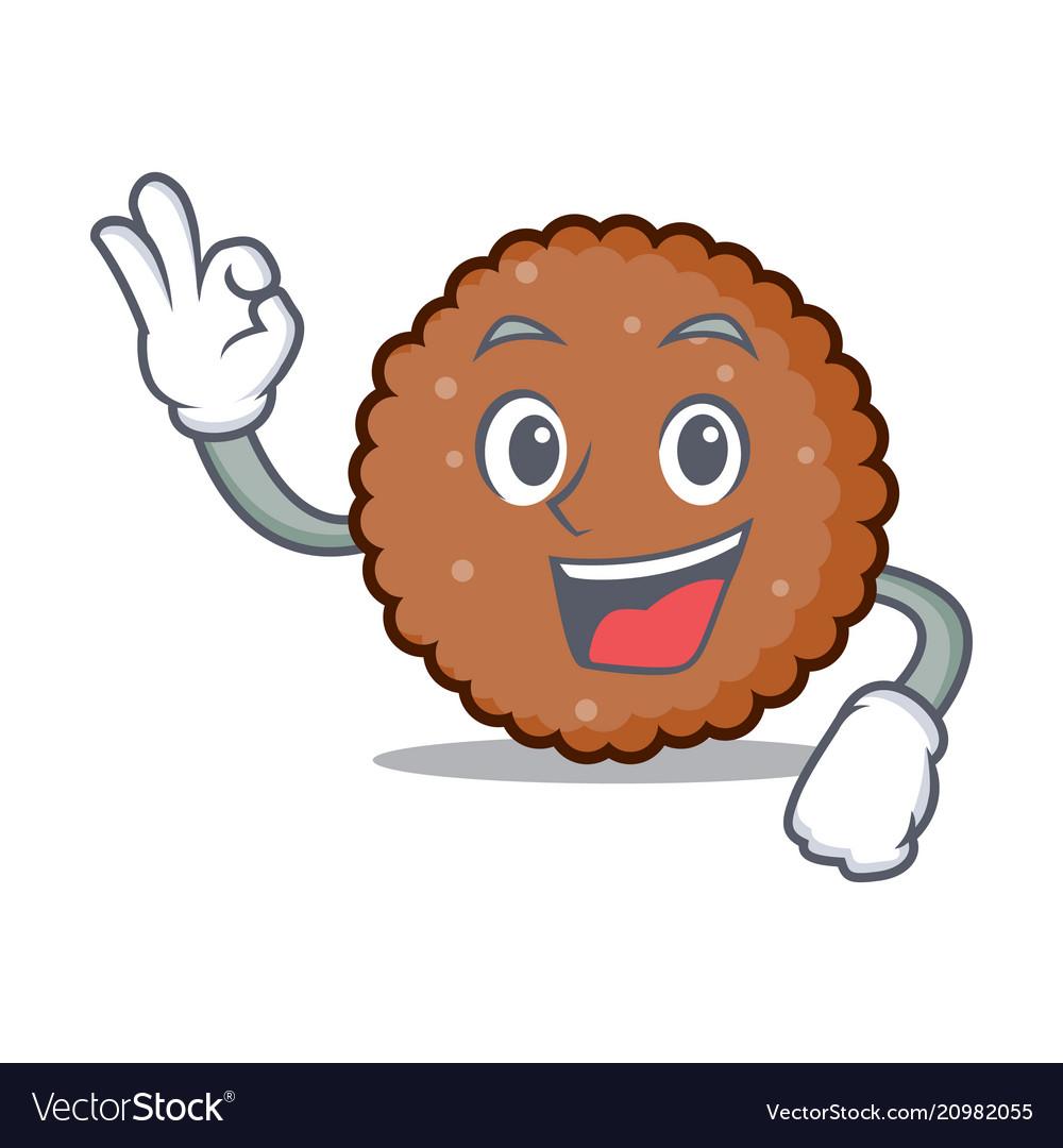 Okay chocolate biscuit character cartoon