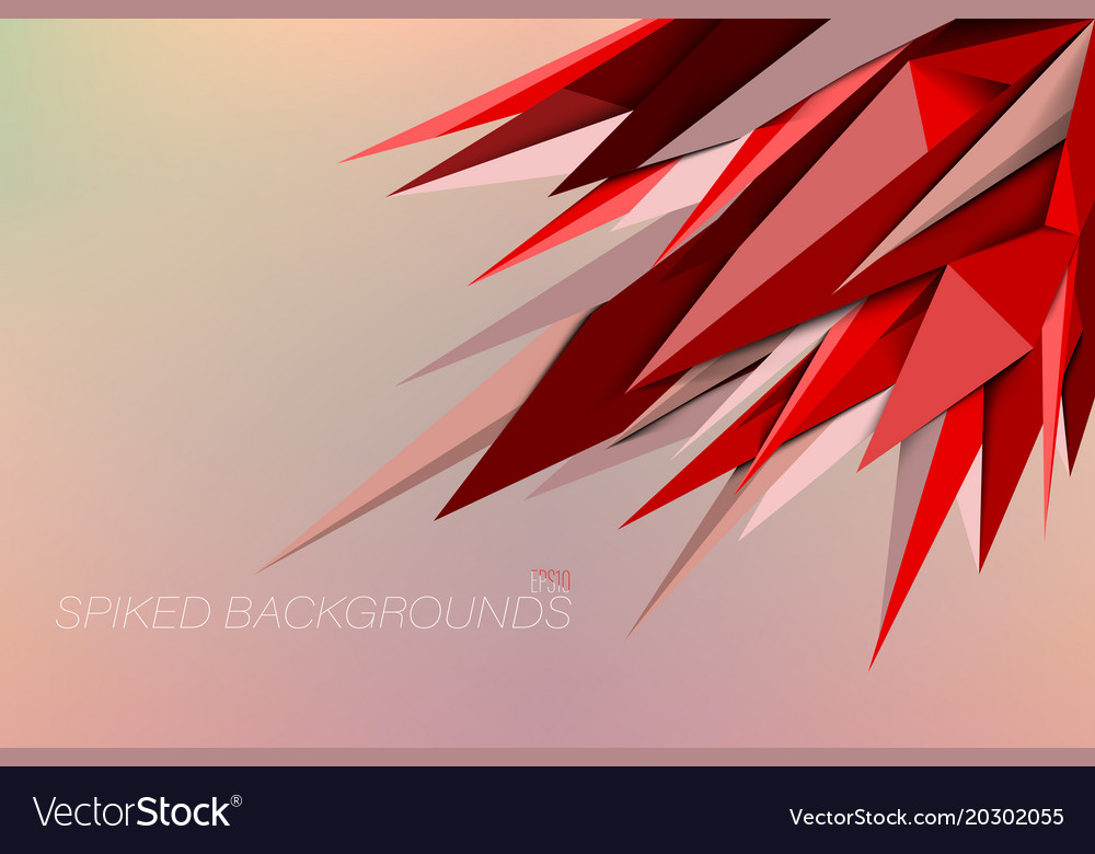Red colors spiked backgrounds vector image