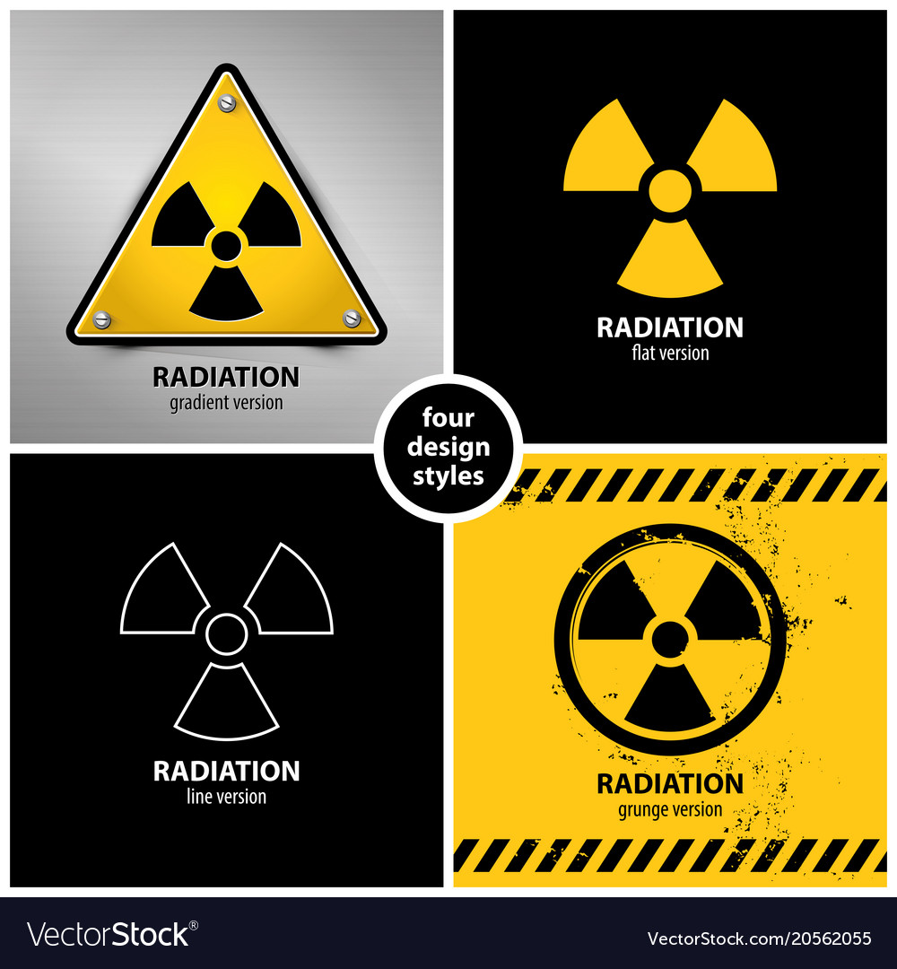 Set Of Radiation Warning Symbols Royalty Free Vector Image