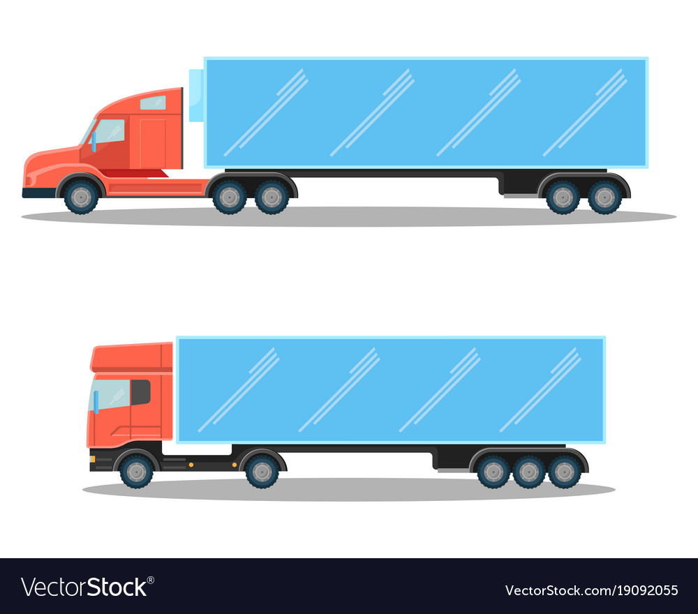 Trucks with small cubic and spacious oblong shapes