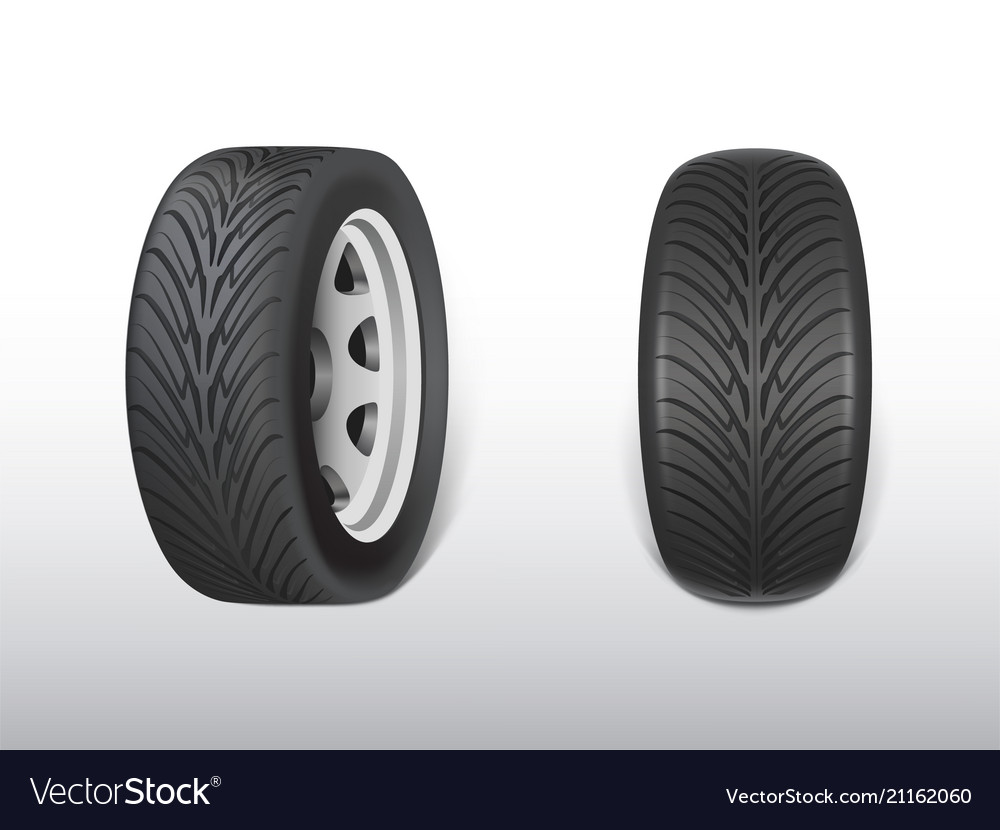 3d realistic black tyre with tread