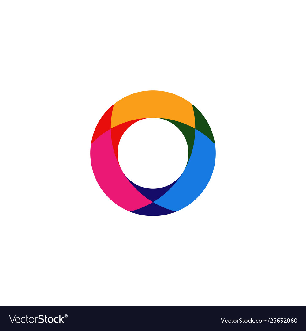 Abstract circle overlapping logo icon