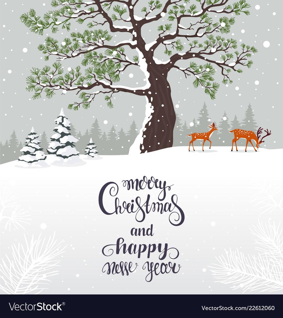 Christmas winter card