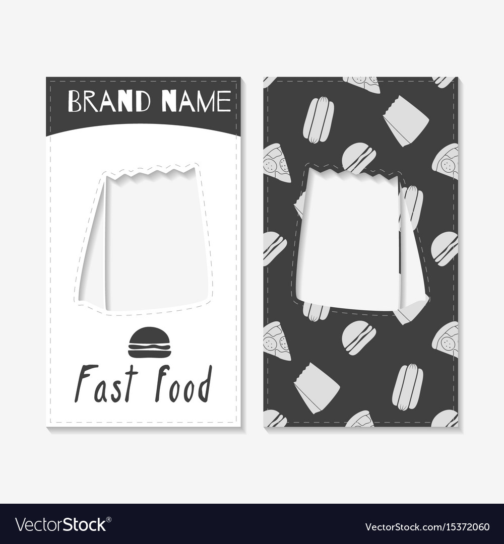 fast food business cards vector image - Fast Business Cards