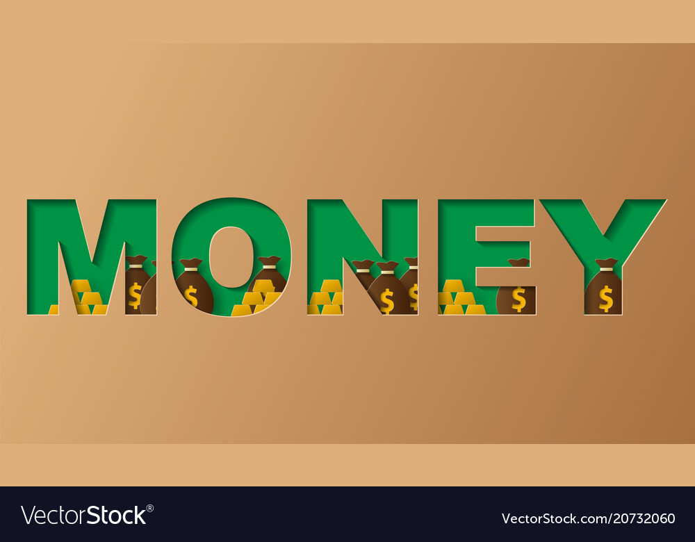 Money concept of a business profits investment