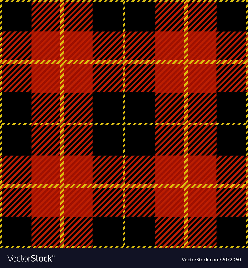Red Seamless Tartan Plaid Design Pattern vector image