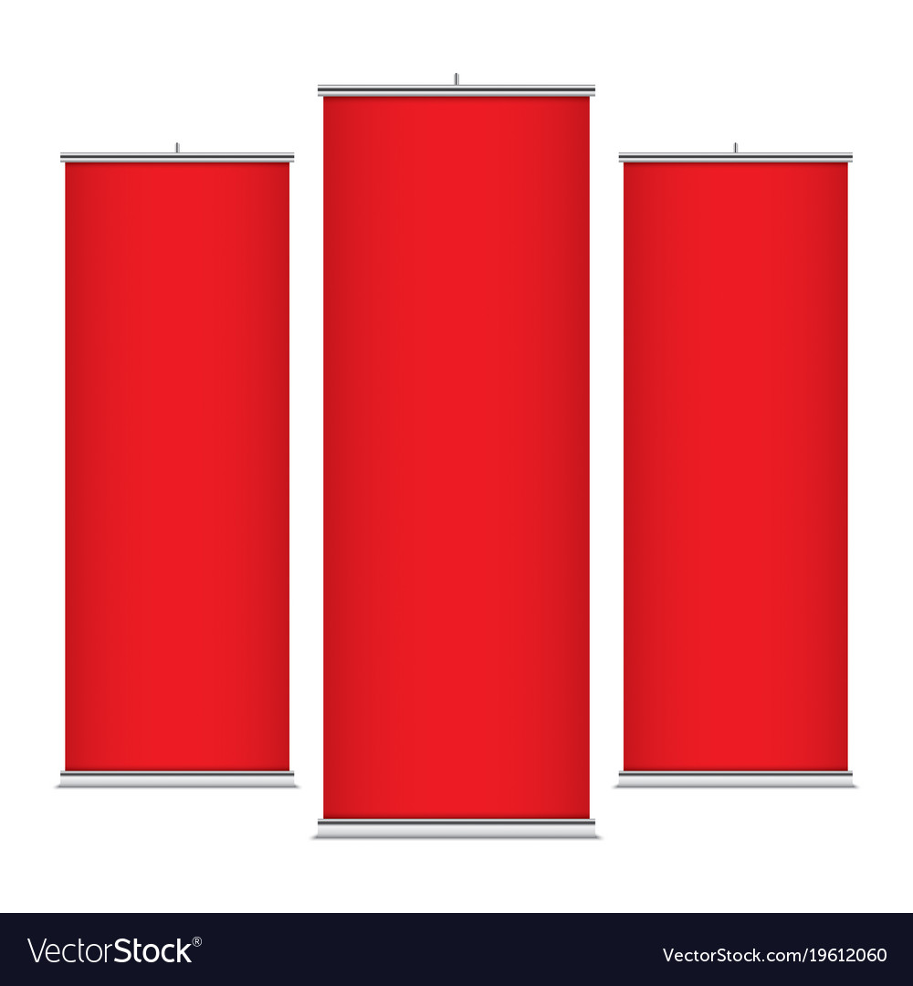 Red vertical banner templates