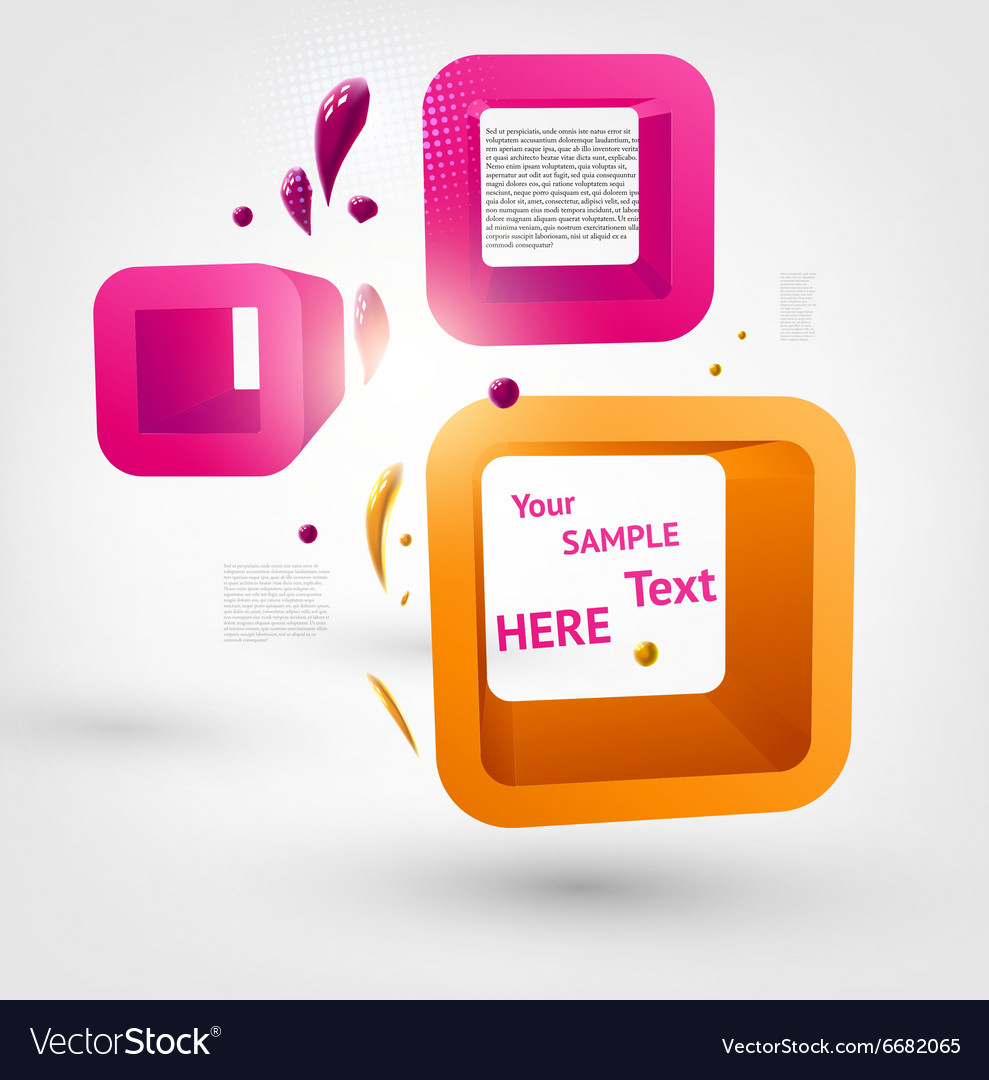 3D Abstract Boxes for Design vector image