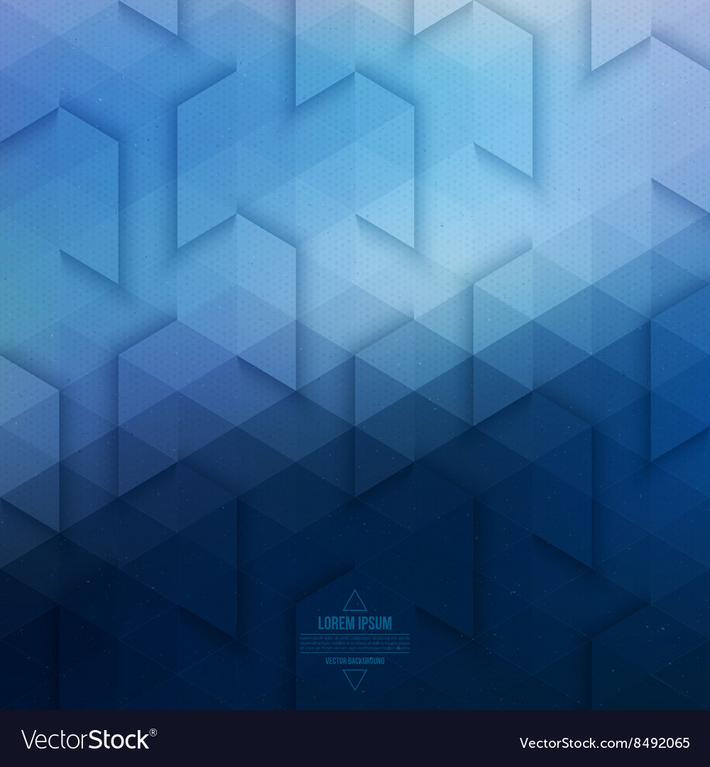 Abstract Geometric Technological Blue Background